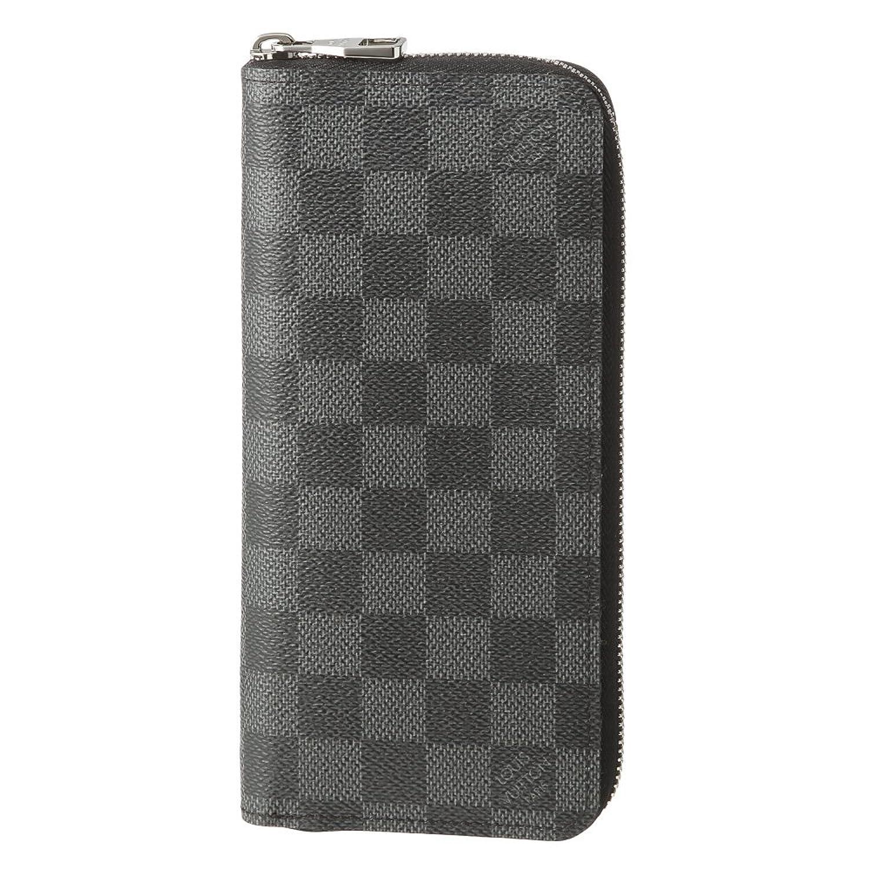 ルイヴィトン(Louis Vuitton) ダミエグラフィット DAMIER GRAPHITE N63095 長財布(ラウンドファスナー) ブラック 黒/グレー[並行輸入品] B01IGE7GHQ