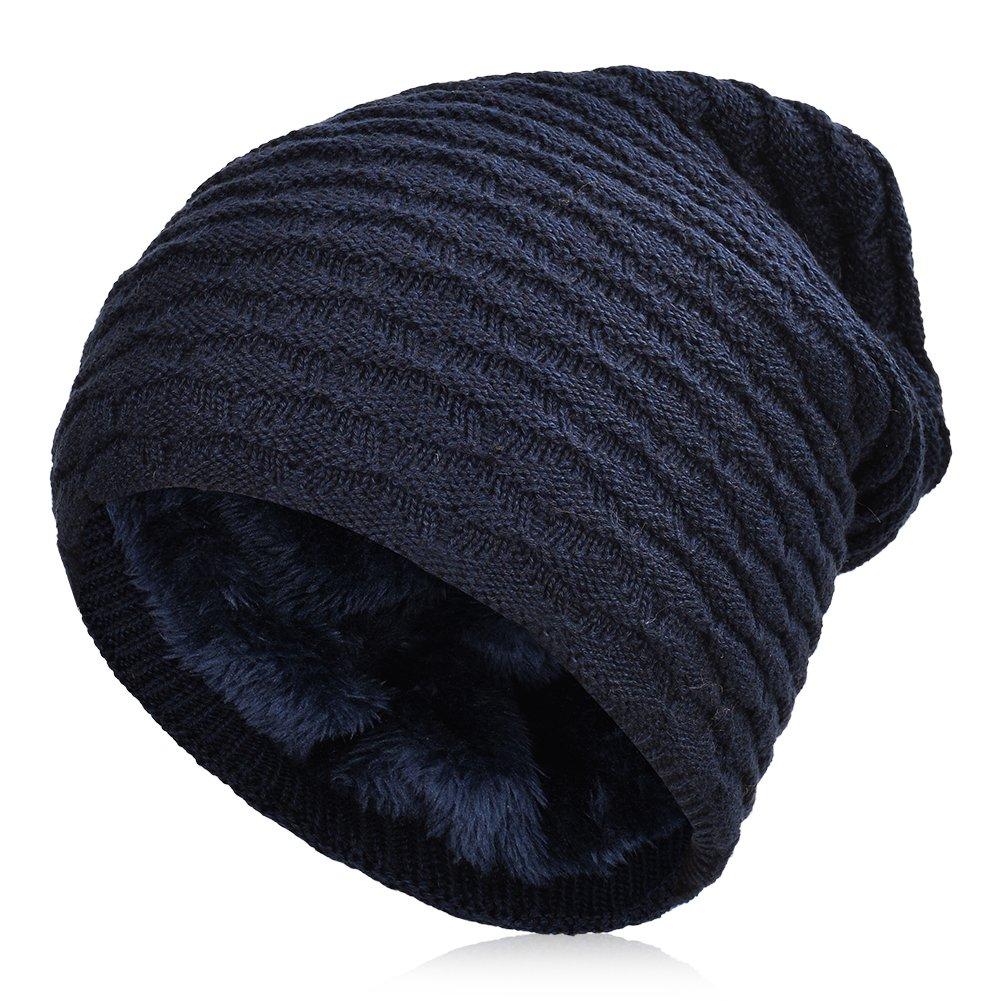 Vbiger Gorro de Punto para Invierno Boina para Hombre (Azul marinoo) product image