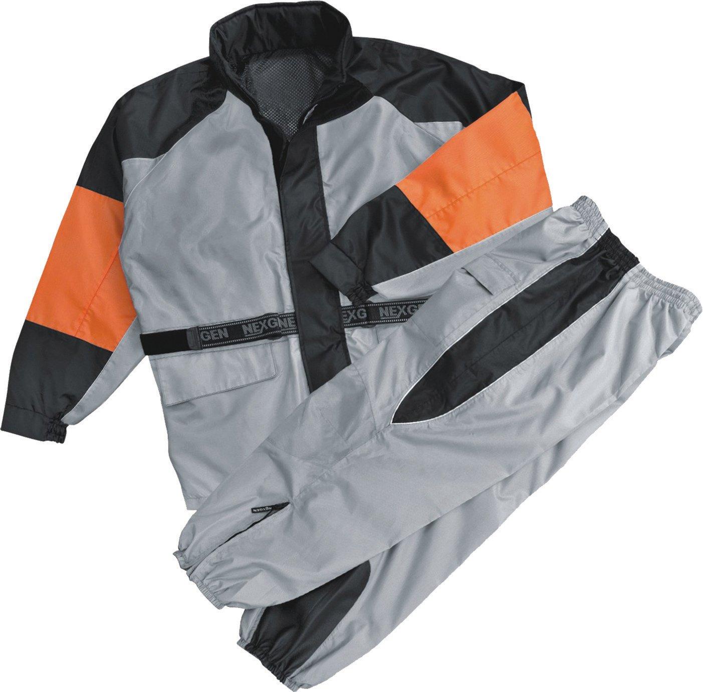 Nexgen Women's Rain Suit (Black/Silver, X-Large)