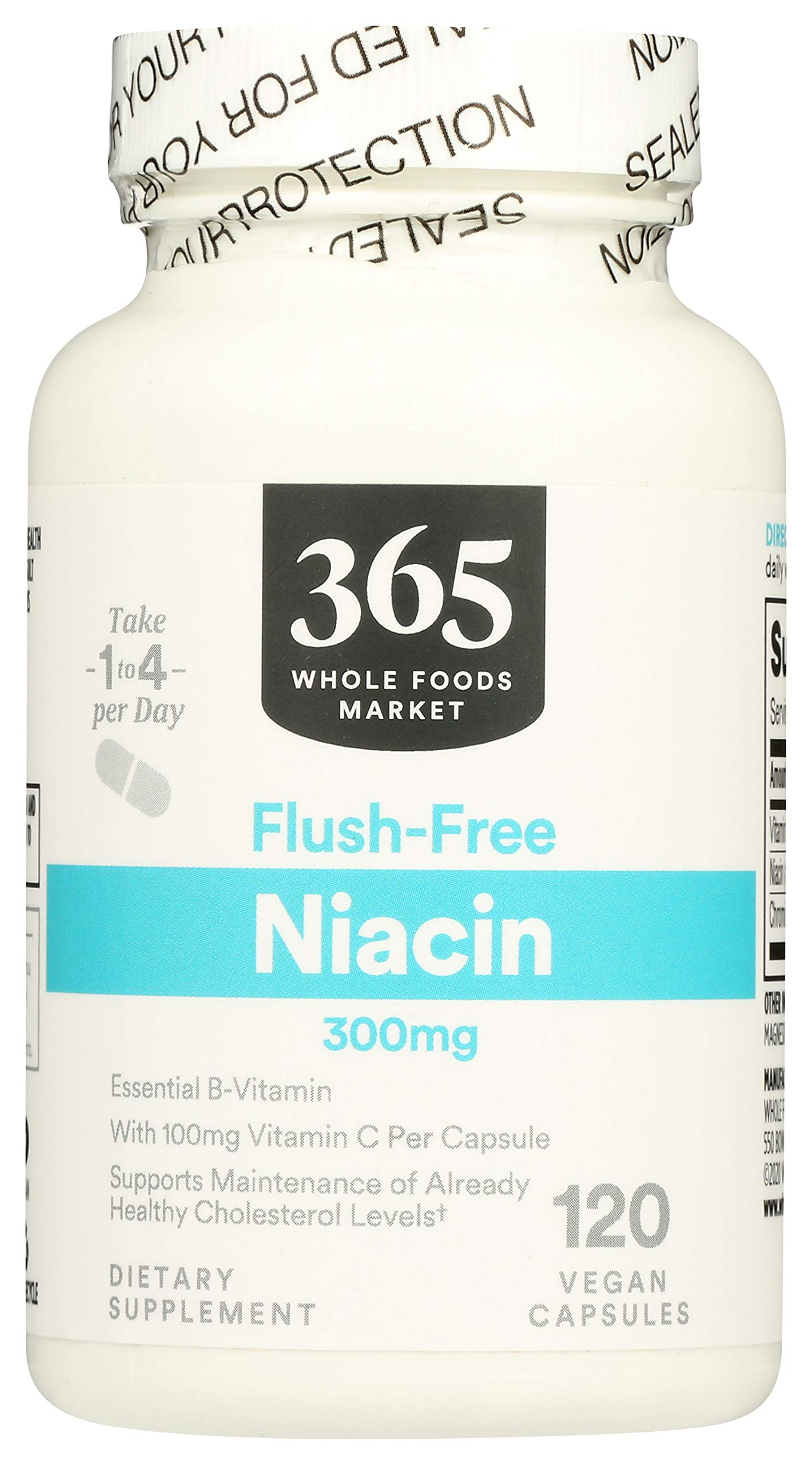 365 by Whole Foods Market, Supplements - Vitamins, Niacin - Flush Free 300mg, 120 Count