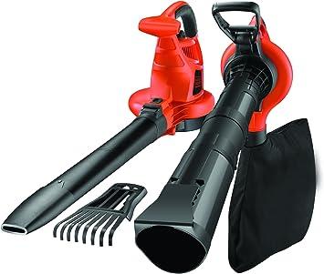 BLACK+DECKER BDBV30 - Aspirador, soplador y triturador de hojas, 3000W, 418 Km/h: Amazon.es: Bricolaje y herramientas