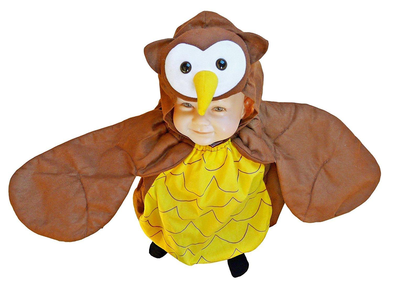 Eulen-Kostüm, F68 Gr. 74-80, für Klein-Kinder, Babies, Eule-Kostüme Eulen-Kostüme Fasching Karneval, Kleinkinder-Karnevalskostüme, Kinder-Faschingskostüme, Geburtstags-Geschenk Eulen-Kostüm für Klein-Kinder Kinder-Faschingskostüme Ikumaal GmbH