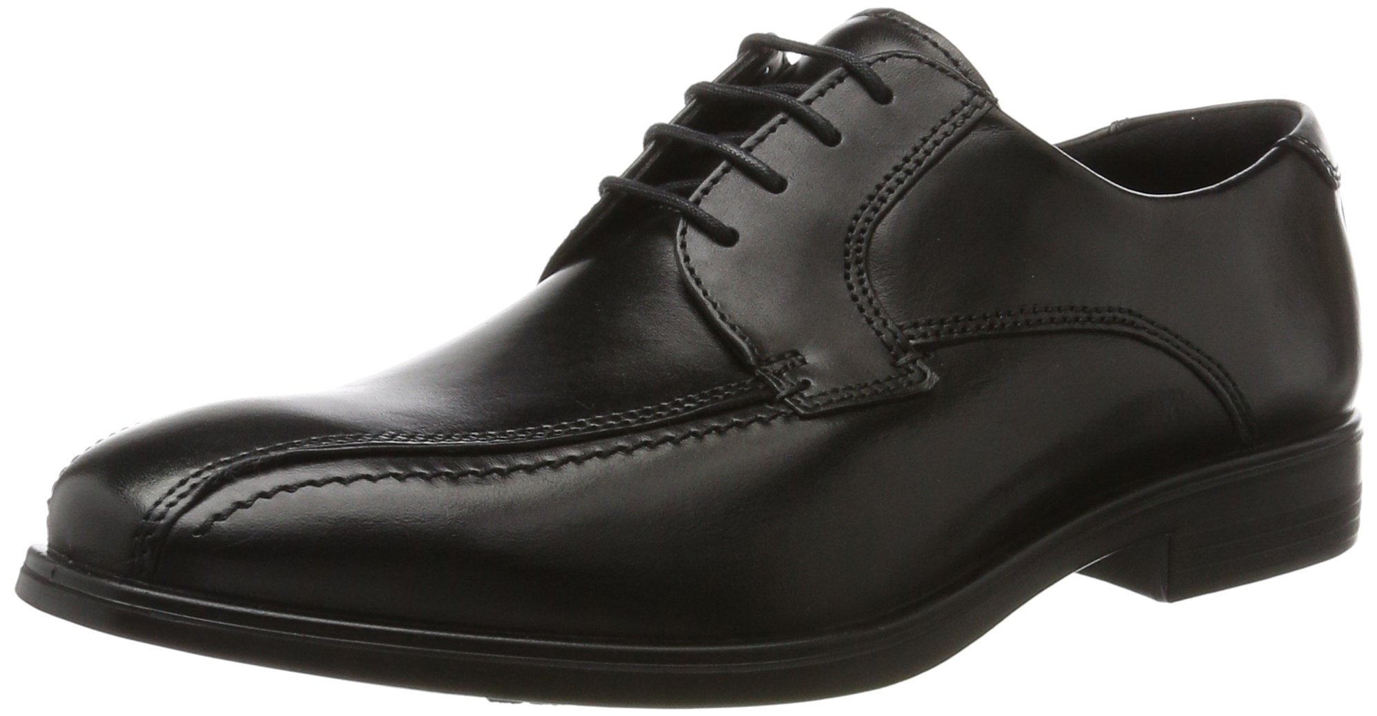 ECCO Men's Melbourne Bike Tie Oxford, Black, 41 EU/7-7.5 M US