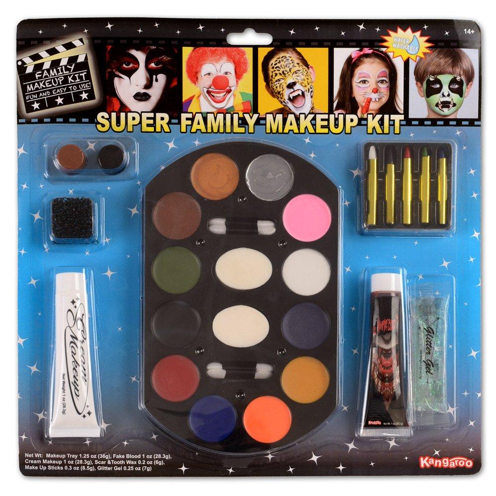 Kangaroo Super Jumbo Value Deluxe Family Makeup Kit; Halloween Makeup