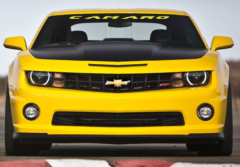 Amazon com jis decals generic camaro windshield decal 40 inch wide yellow automotive