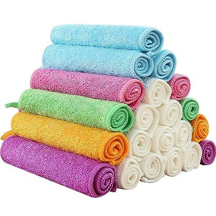 HAIXUN 840gsm Paños de microfibra de limpieza para lavavajillas, toalla de bambú antiadherente, alfombra