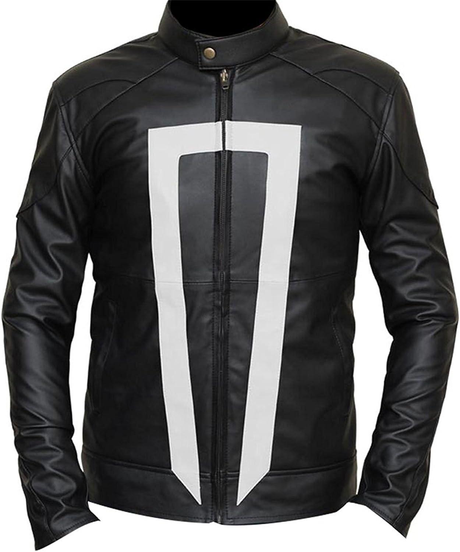 Agents Shield Ghost Rider Robbie Reyes Gabriel Luna Biker Leather Jacket