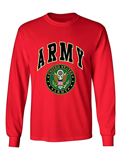 27a90796 Amazon.com: United States Army Long Sleeve T-Shirt Army Crest Patriotic  Clothing: Clothing