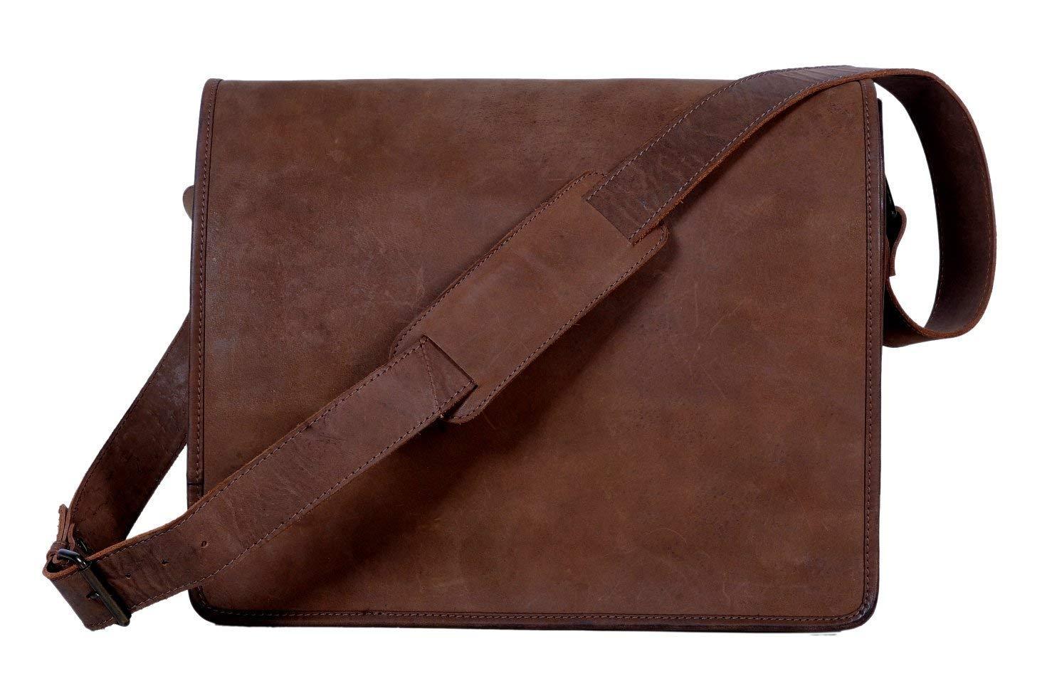 9bd02ec447 Amazon.com  Znt Bags15 inch Vintage Crossbody Genuine Leather Laptop  Messenger Bag  ZNT bAGS