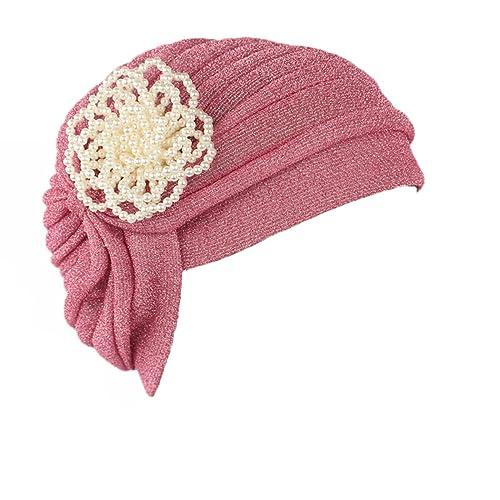 Ever Fairy - Turbante para personas con cáncer, estilo étnico con perlas