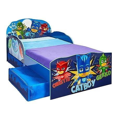 PJ: máscaras para cama infantil con almacenamiento y colchón de espuma de lujo: Amazon.es: Hogar