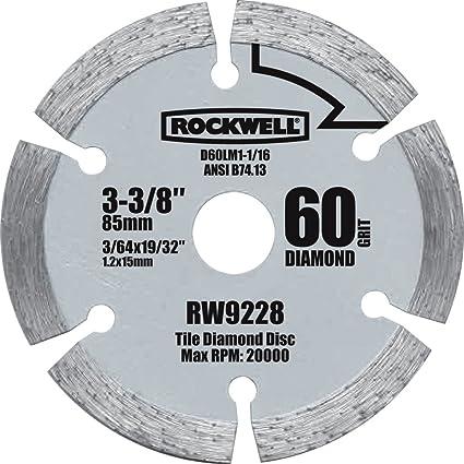 Rockwell rw9228 versacut 3 38 inch diamond grit circular saw blade rockwell rw9228 versacut 3 38 inch diamond grit circular saw blade greentooth Choice Image