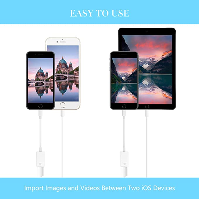 Support Card Reader Hubs FA-STAR USB Camera Adapter MIDI Interface White USB Female OTG Data Sync Cable Compatible with iPhone X 8 7 6 Plus iPad Air Pro Mini
