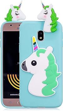 Funluna Funda Samsung Galaxy J3 2017, 3D Unicornio Silicona ...
