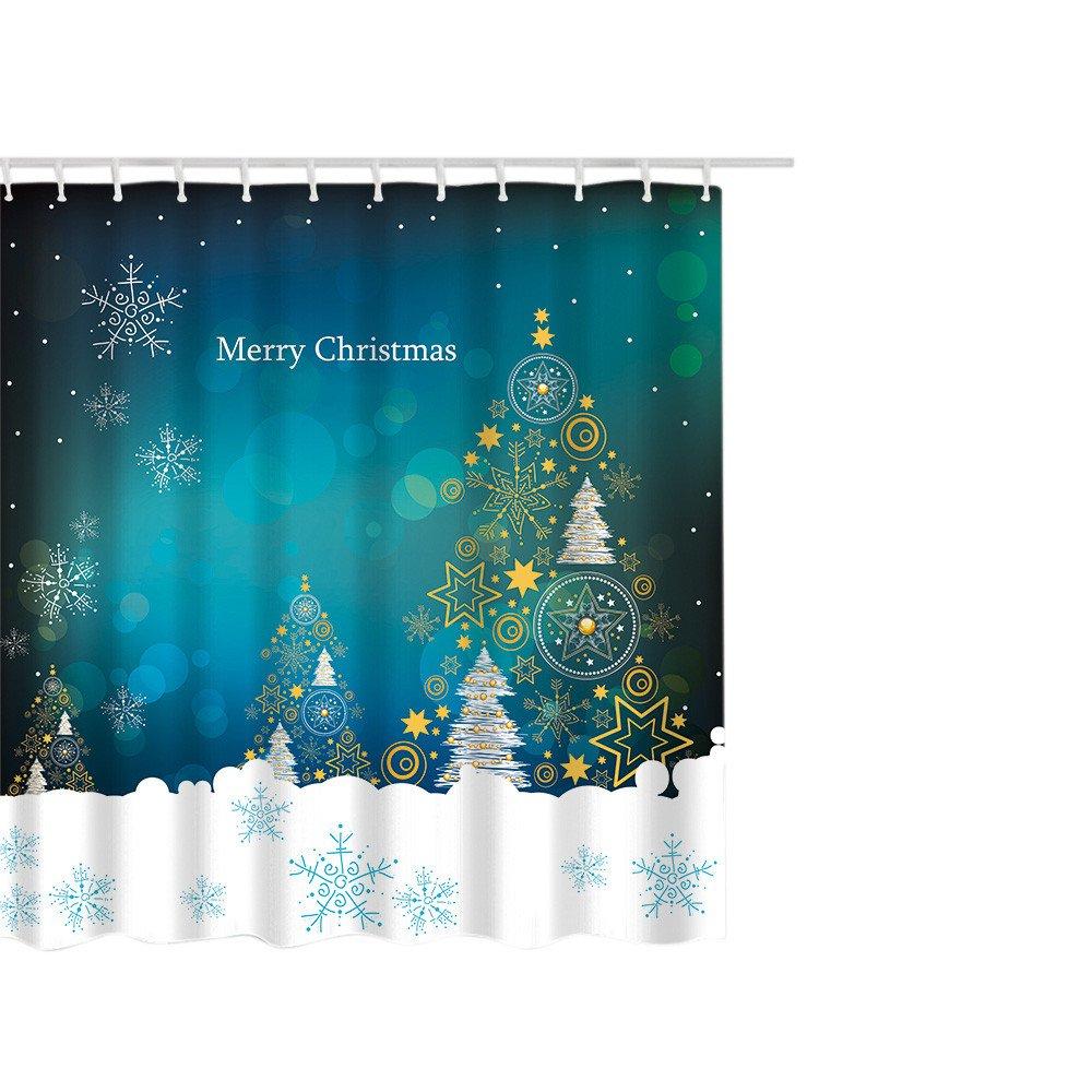 Duschvorhang, xinxinyu Weihnachten Duschvorhang, Home Decor ...