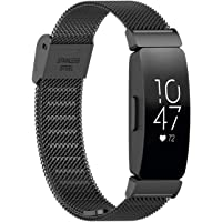 TERSELY Band Strap for Fitbit Inspire & Inspire HR, Luxury Metal Stainless Steel Adjustable Replacement Bands Fitness Sport Strap for Fitbit Inspire & HR Wristbands