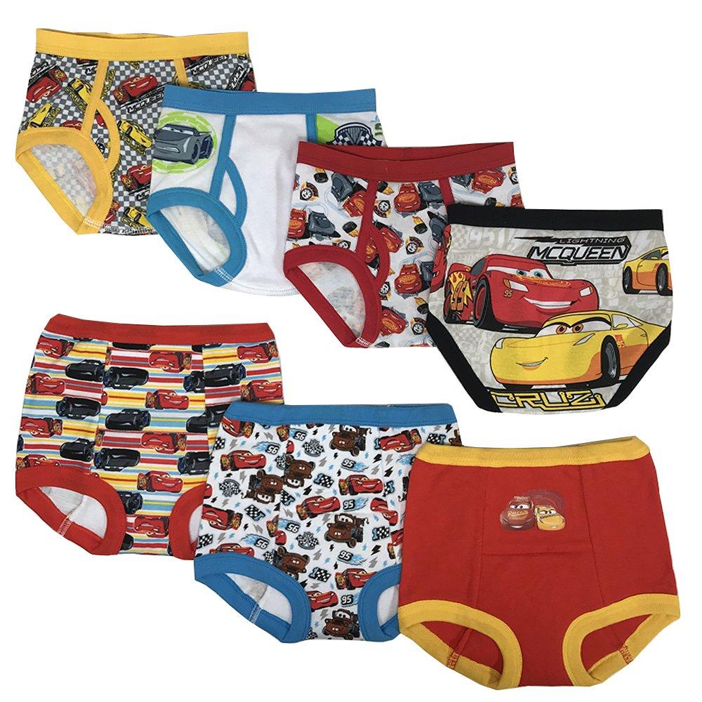 28c31b588c Galleon - Disney Cars Boys Potty Training Pants Underwear Toddler 7-Pack,  Cars Multi, 3T