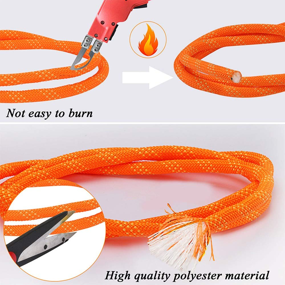 AOSExpert 10 mm Outdoor Static Rock Climbing Rope Fire Escape Safety Rescue Rappelling Rope