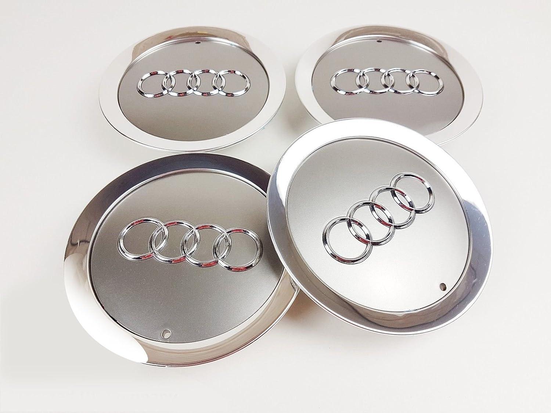 4 x New in lega, centro 145 mm Set Coprimozzo 4E0601165 A [2006 –  2010] centro 145mm Set Coprimozzo 4E0601165A [2006-2010] Just German Parts