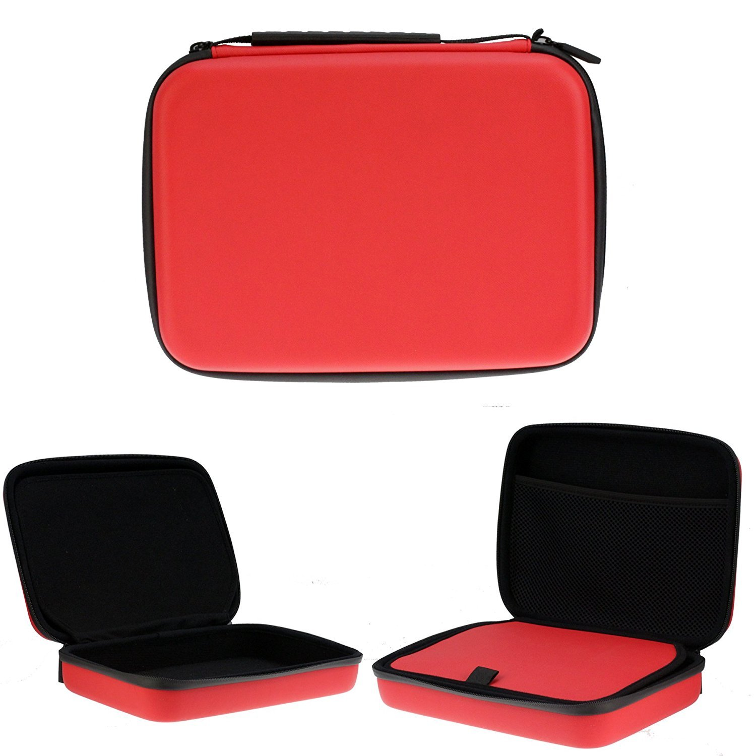 Navitech Red Heavy Duty Rugged Camera Case / Cover For The AEE M1 Flexi Cam