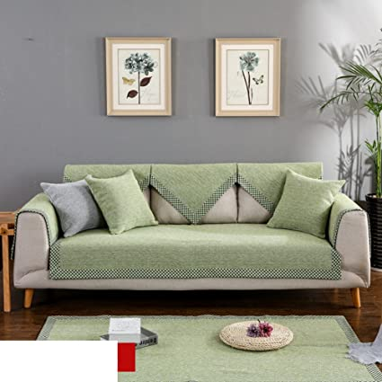 Amazon.com: FDJKGFHGFCGDFGDG Linen Sofa slipcovers,Four Seasons ...