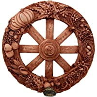 Wheel of The Year Wall Plaque Featuring Eight Pagan Festivals Sabbats By Maxine Miller