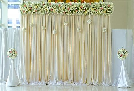 Amazoncom Laeacco Indoor Floral Wedding Stage Backdrop