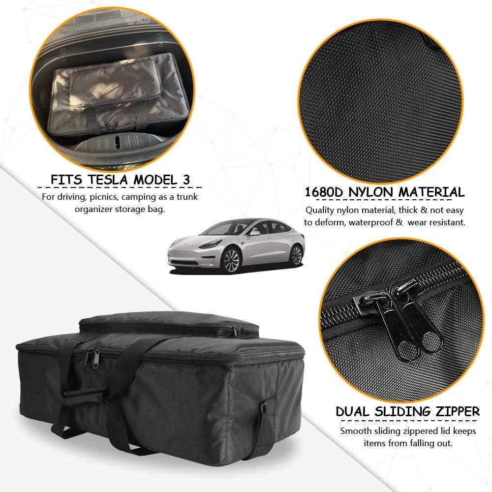 Tesla Model 3 Modell X Frunk Kühltasche Front Trunk Isolierter Reißverschluss Kühler Organizer Mit Netztaschen Baumarkt