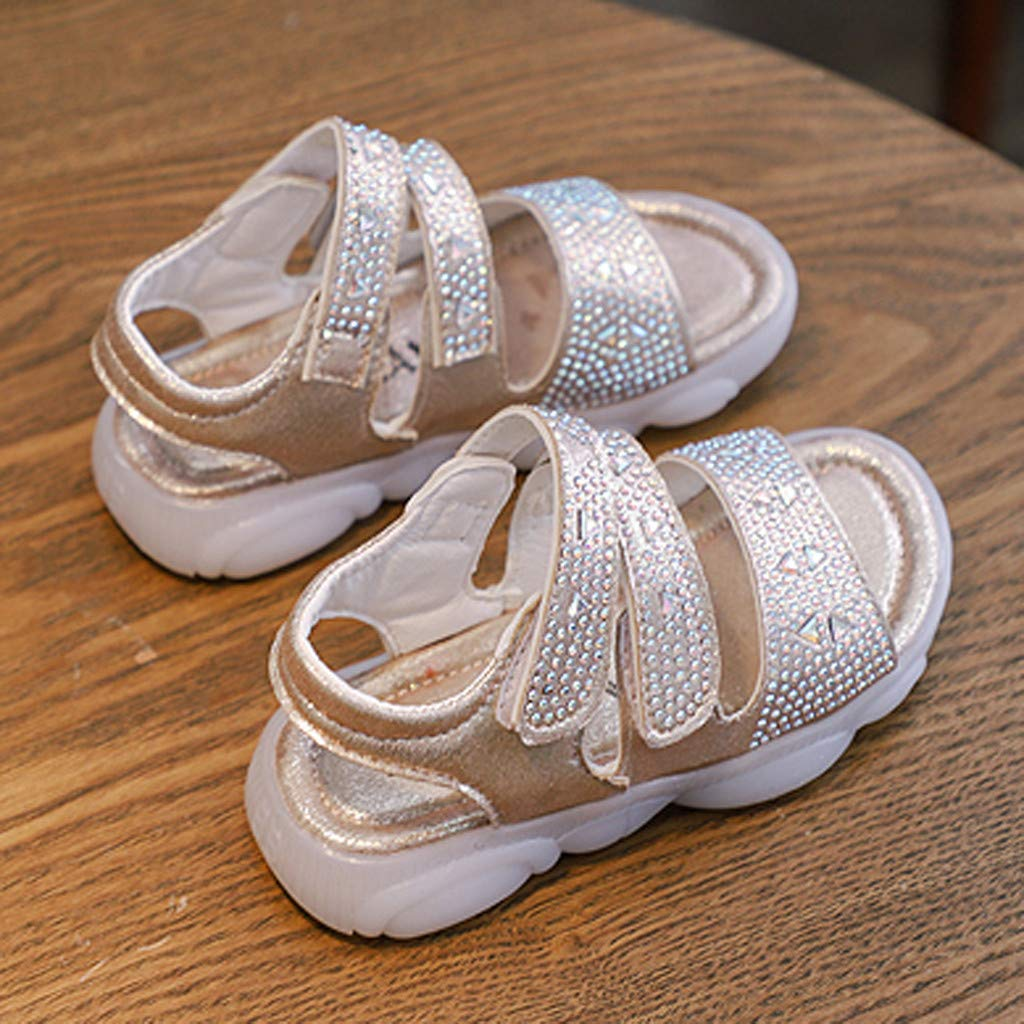 Toddler Infant Kids Baby Girls Crystal Shoes Bling Summer Princess Shoes Sandals sunnymi  Kids Baby Girls Shoes