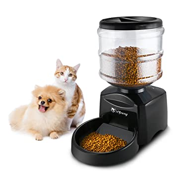 isyoung automatic pet feeder for dogs cats 5 5l pet feeder dispenser