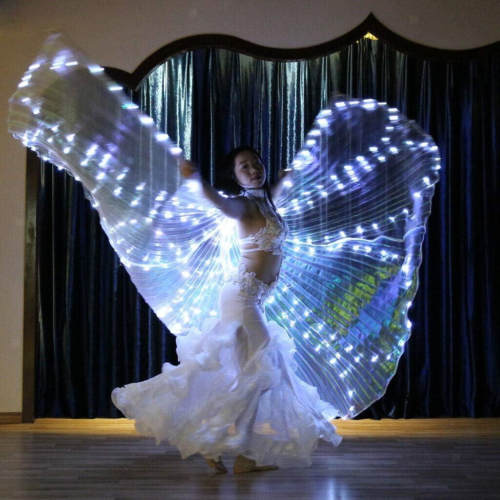 Adoture Discoteca Abito da Donna con Ali a LED per Danza del Ventre Spettacolo di Danza del Ventre