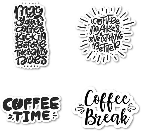 Friend Gift Funny Stickers Macbook Sticker Co-worker Gift Coffee Lover 10 Sticker Bundle Laptop Sticker Decal Item CF200