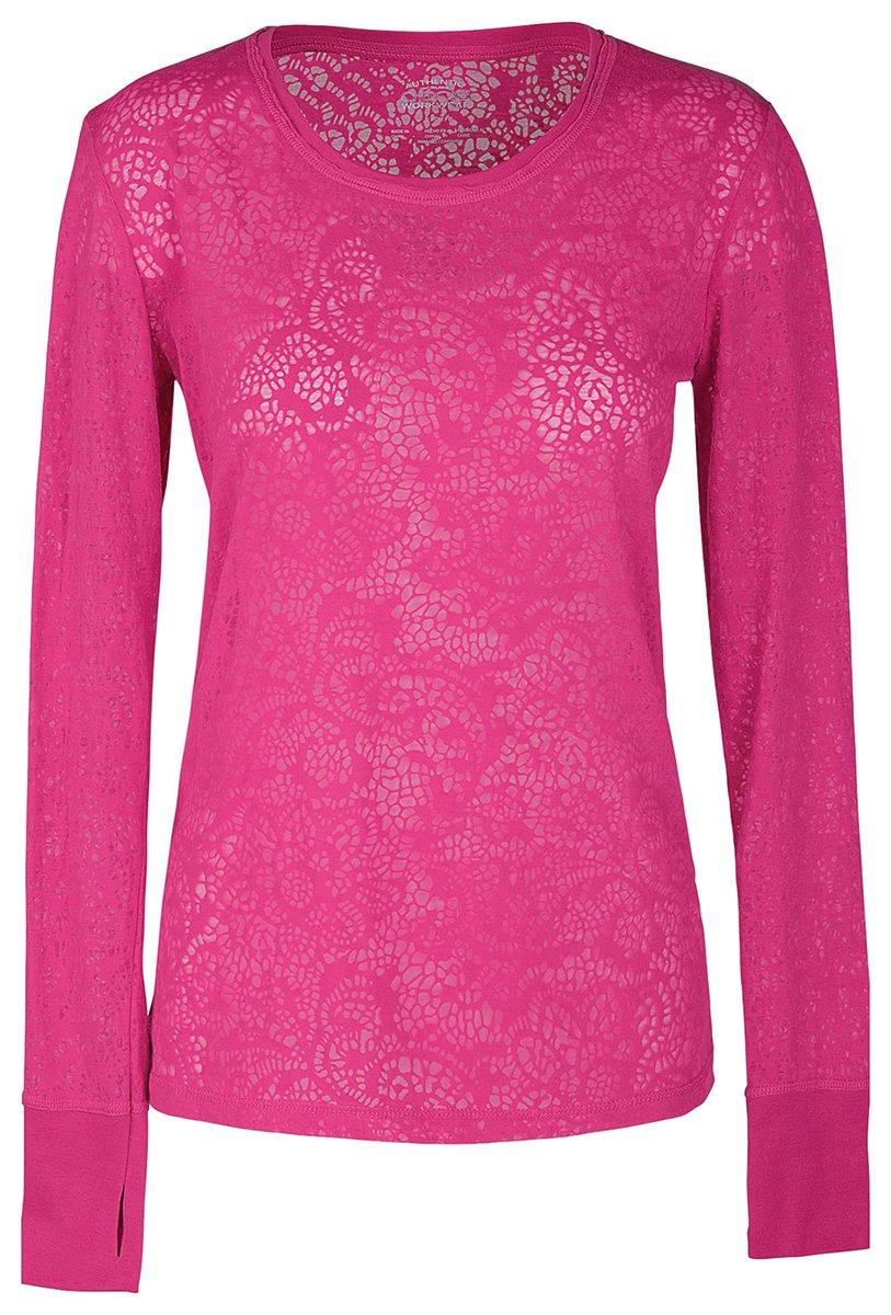 Cherokee Women's Warm Long Sleeve Knit Underscrub Tee_Shocking Pink_Small,4823