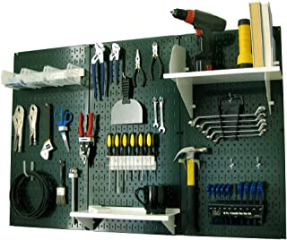 product image for Pegboard Organizer Wall Control 4 ft. Metal Pegboard Standard Tool Storage Kit with Green Toolboard and White Accessories