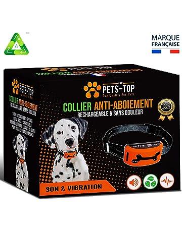 6d41d81fec26 One PETS-TOP Collier Anti Aboiement Chien Rechargeable Version 2019  sans  Choc