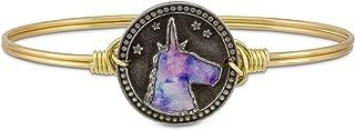 product image for Luca + Danni Tie Dye Unicorn Bangle Bracelet - Brass Tone Size Regular