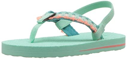 dceace26a30729 Teva Girls  T Mush II Flip-Flop Hula Girl Blue 5 M US Toddler ...