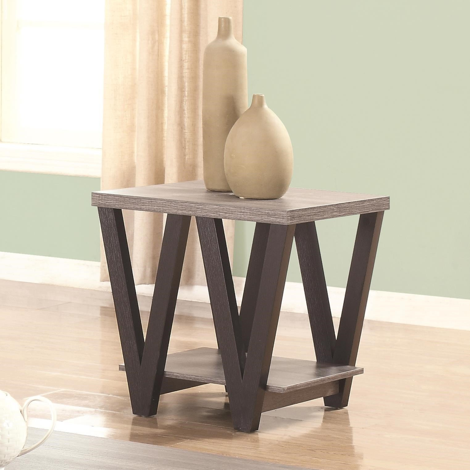 Coaster Home Furnishings 705397 End Table, Black/Grey