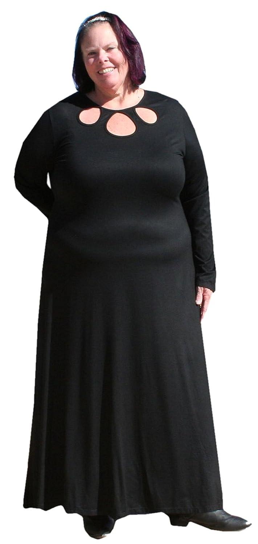 BBW Boutique Plus Size Sexy Keyhole Maxi Dress at Amazon Women's Clothing  store: