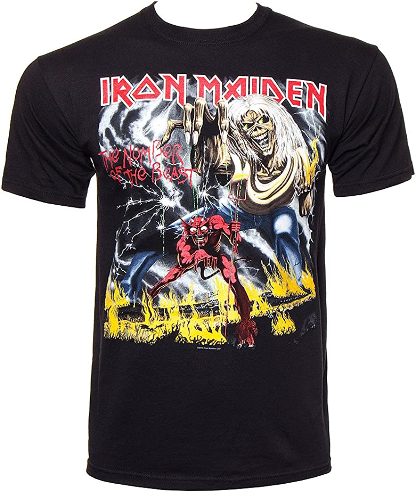 Iron Maiden - Camiseta - The Number Of The Beast: Amazon.es: Ropa y accesorios