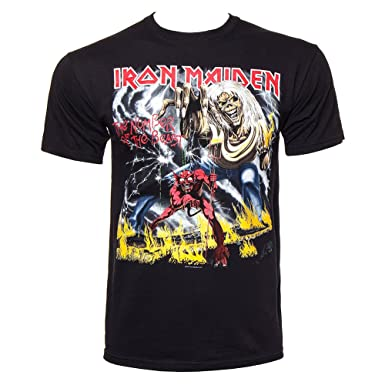8e61aee895b8 Iron Maiden - T-Shirt The Number Of The Beast (in S): Amazon.co.uk: Clothing