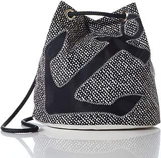 product image for Sea Bags Black Anchor on Barnacle Print Convertible Bucket Bag