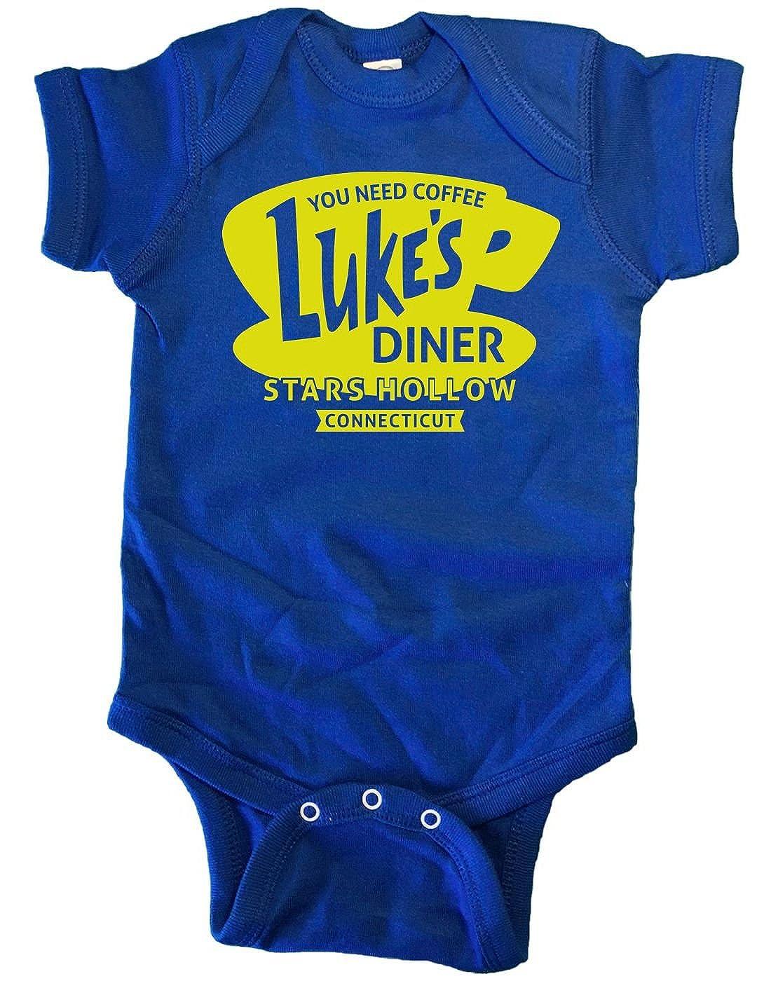 Brain Juice Tees Lukes Diner Gilmore Girls Baby One Piece