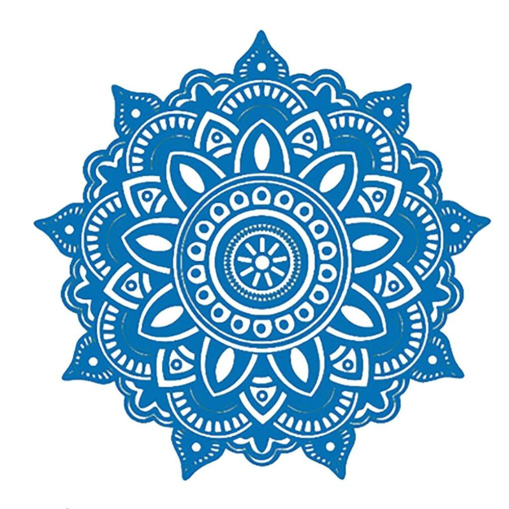 e1fd2ff4e5c Koolee 42x42cm Mandala Flower Wall Sticker Indian Bedroom Wall Decal  Removable Sticker Art Stickers Mural Home ...