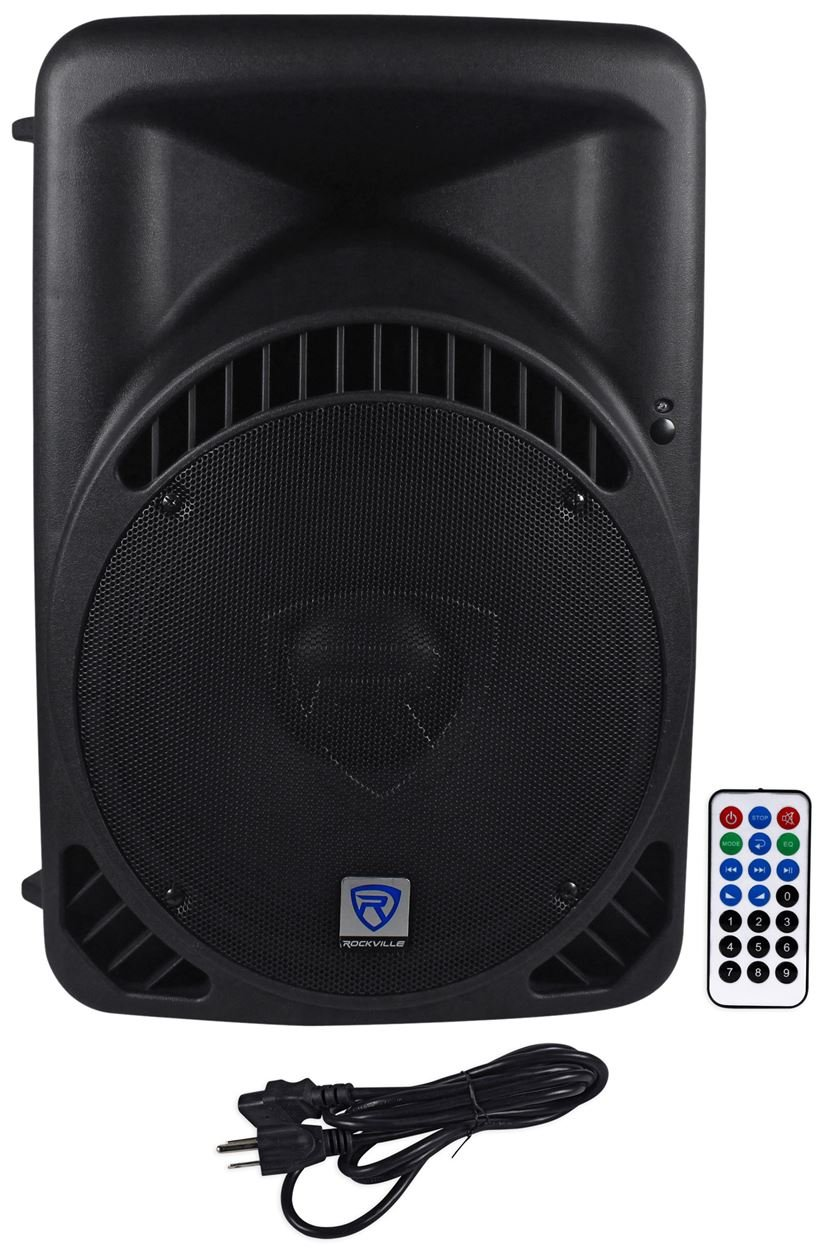 Rockville 15'' Powered 1000W DJ PA Speaker BlueTooth, USB, SD, EQ, Remote (RPG15BT)