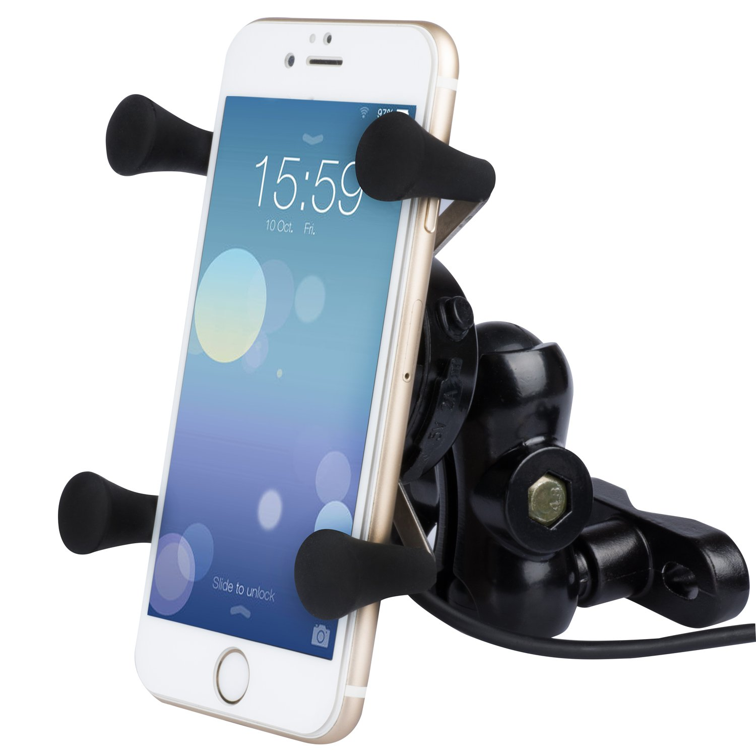 BlueFire Universal Bike Handlebar Mount Holder Adjustable Motorcycle Phone Mount Handlebar Cell Phone Holder with for Bicycle Motorbike Scooter ATV RV