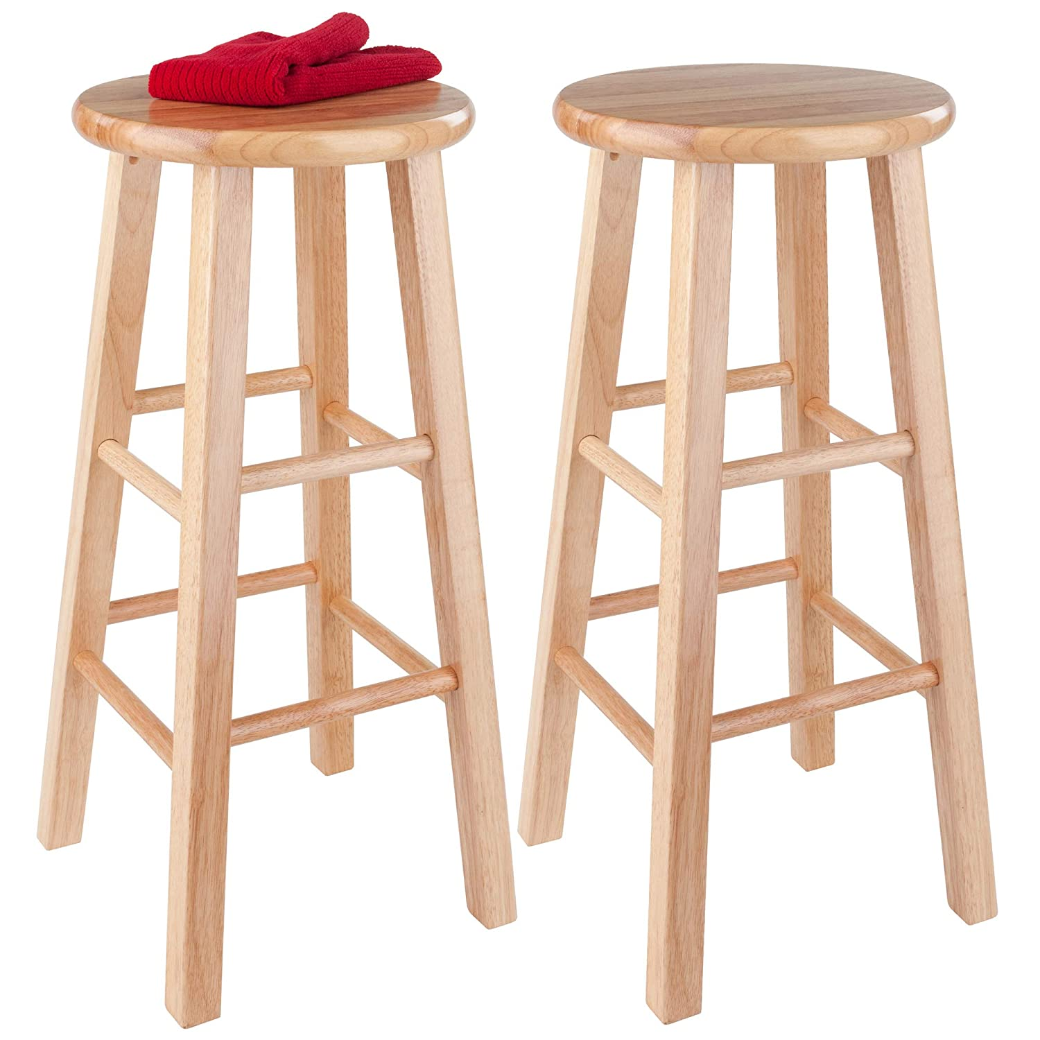 Winsome Wood 29-Inch Square Leg Bar Stool Set of 2 2 Natural