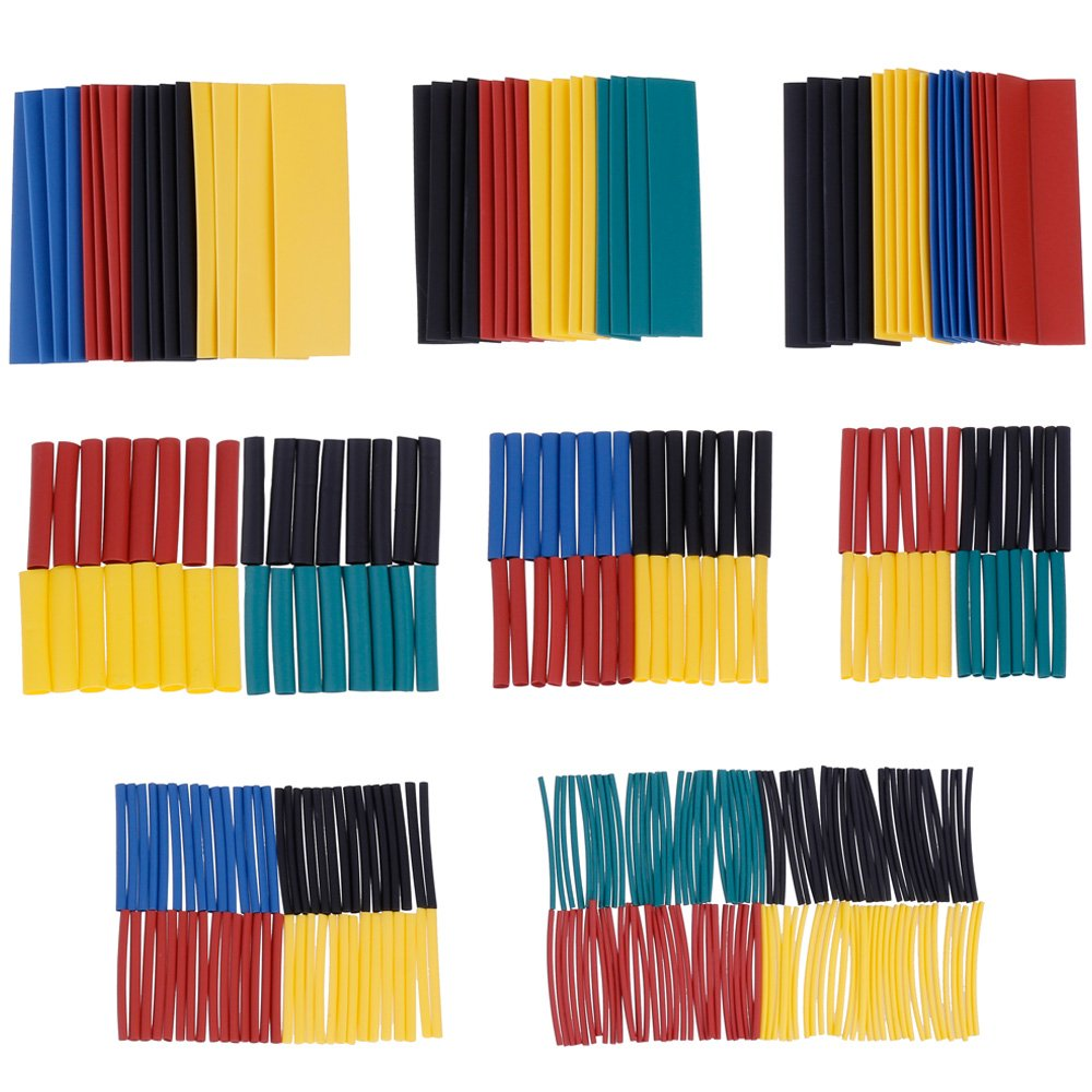 Zacro 328 Pcs 2:1 Heat Shrink Wrap Assortment, Colorful Heat Shrink Tube, Tubing Sleeving Wire Wrap in 8 Sizes