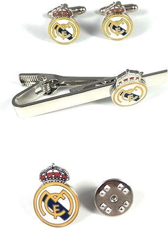 PACK Pasador de Corbata, PIN y Gemelos Real Madrid: Amazon.es ...