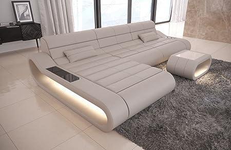Divano In Pelle Beige.Sofa Dreams Concept L Divano In Pelle Colore Beige Amazon It